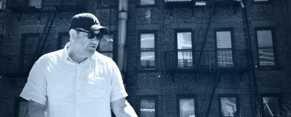 Thriller writer J.B. Turner, High Line, New York City, July 2018