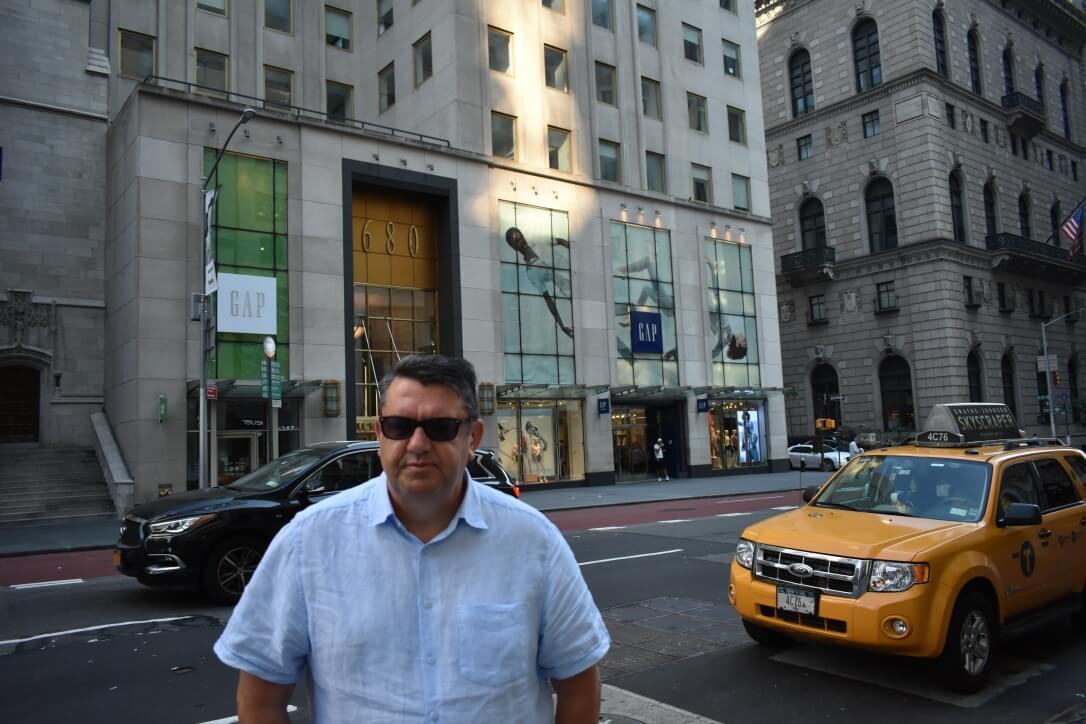 Thriller writer J.B. Turner, New York City, July 2018